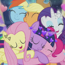 mylittlepony mylittleponyfriendshipismagic twilightsparkle pinkiepie rainbowdash fluttershy applejack rarity bestfriendsforever❤ friendshipday freetoedit bestfriendsforever