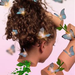 freetoedit myedit surreal drawtools creativity araceliss myart butterfly butterflies madewithpicsart girl creative mask maskeffect