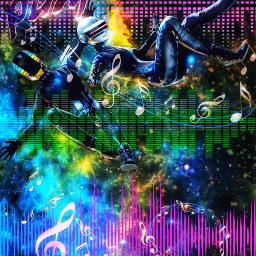 conceptart daftpunk music edm housemusic house dubstep colorful space outerspace galaxy universe fanart poster coverart posterdesign posterconceptart originalart originaledit original freetoedit