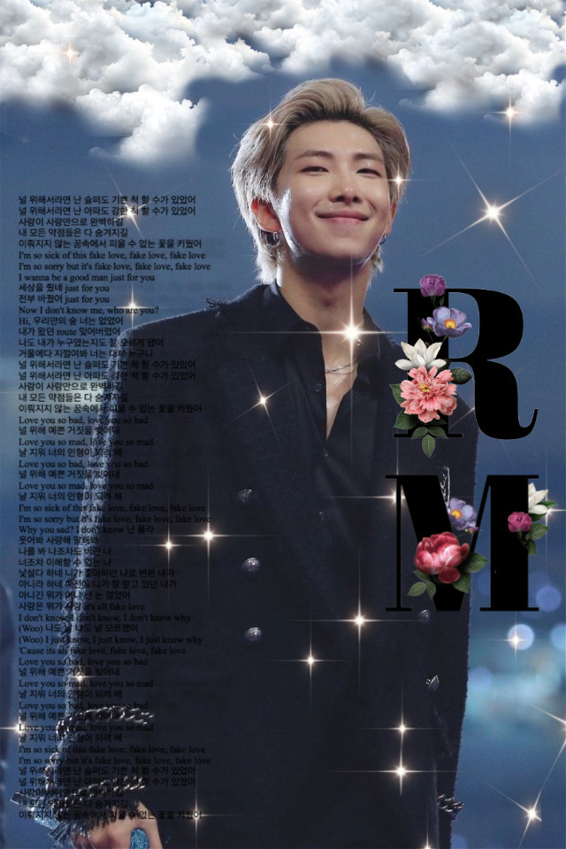 #blue #clouds #sparkles #rm #edit #rmedit #bts #btsrm #kimnamjoon #namjoon  #freetoedit