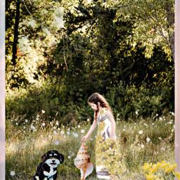 freetoedit seashell girl kid child petsandanimals dog puppy trees nature flowers ircseatreasure seatreasure