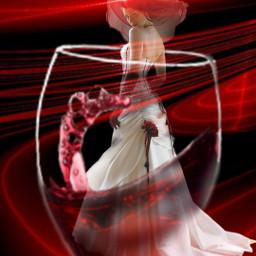 freetoedit woman lady glass wine red color intense beauty editwithpicsart picsart