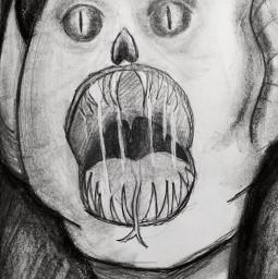 drawing creepy vampire creepyart vampiredrawings dark darkart charcoaldrawing fading pencilart