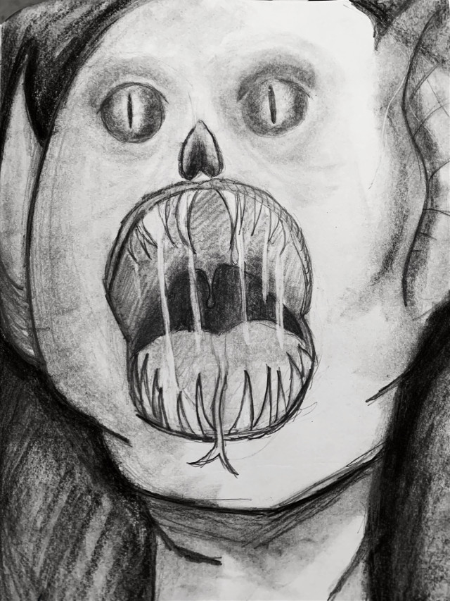 -••just your local creepy drawing••- #drawing #creepy #vampire #creepyart #vampiredrawings #dark #darkart #charcoaldrawing #fading #pencilart