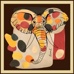 elephant abstractart abstract abstractshapes wildanimal wild savannah