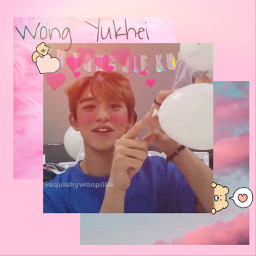 pink lucas nct wayv lucaswayv lucasnct wongyukhei huangxuxi cutie freetoedit