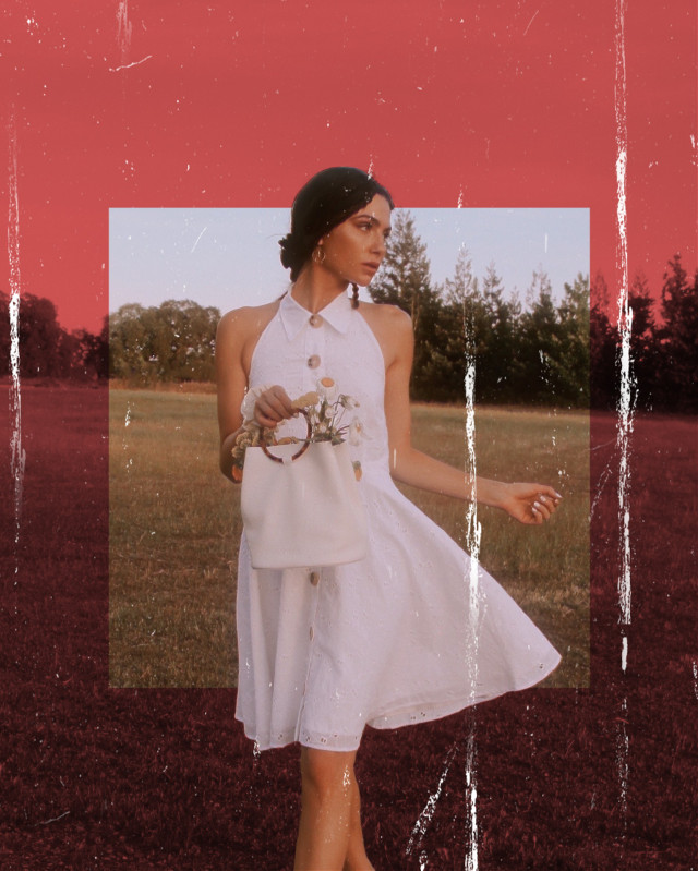 https://youtu.be/tcG12UeSR20 👈 Tutorial If you want to learn how I create this edit watch new tutorial on my YouTube channel (Luka B)😊 5 creative ways to edit your INSTAGRAM photos PICSART TUTORIAL 💥 #red #vintage #freetoedit ##summer #frame #fotoedit #girl #awesome #picsart