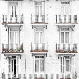 balconies facade photography balcony white