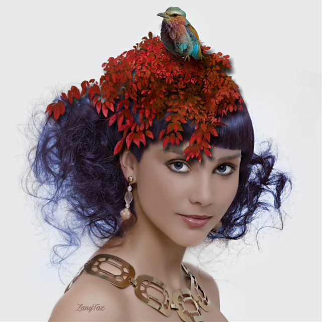 #birdnest #hairstyle #hairart #hair #art  #artisticportrait #birdie #trendy #woman #myedit #photomanipulation #madewithpicsart #picsartstickers #stickers #beautytool #haircolorchange #blue 💙🌿#freetoedit
