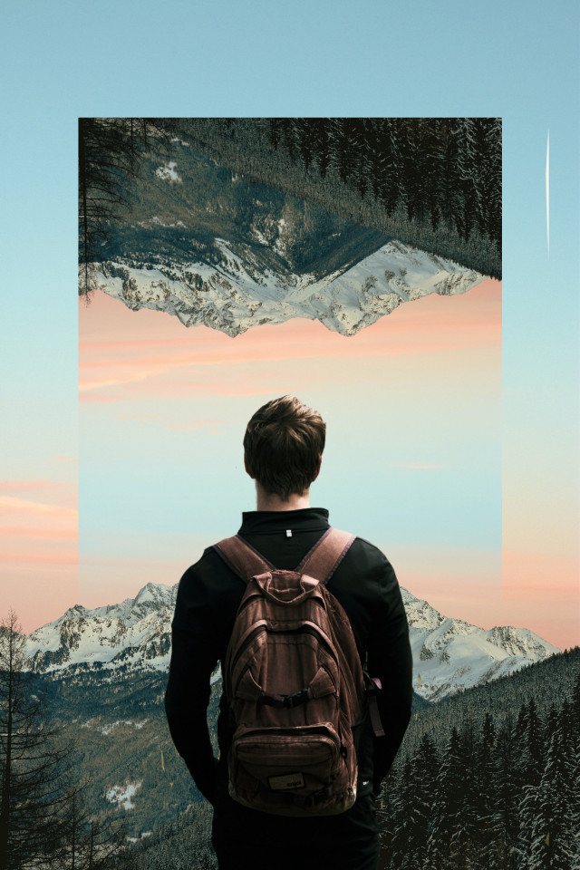 https://youtu.be/tcG12UeSR20 👈 Tutorial If you want to learn how I create this edit watch new tutorial on my YouTube channel (Luka B)😊 5 creative ways to edit your INSTAGRAM photos PICSART TUTORIAL 💥 #sureal #picsart #landscapeflip