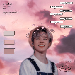 bts jimin serendipity army pink aesthetic freetoedit