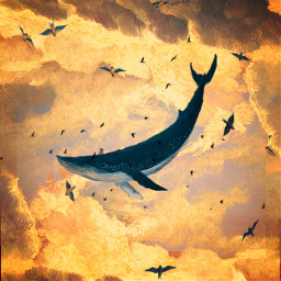 freetoedit whale painting golden gold