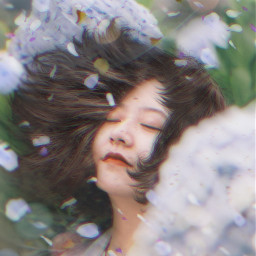 freetoedit woman petals hair wind blowinghair leafs ftestickers magicbrush madewithpicsart picsarteffects