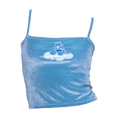 freetoedit tanktop carebear carebears blue filler tank crop croptop top shirt vsco edit fillerpng png artsy arthoe tumblr