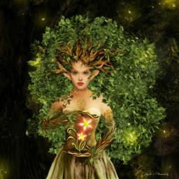 freetoedit dryad fantasy fantasyart imagination echairart hairart