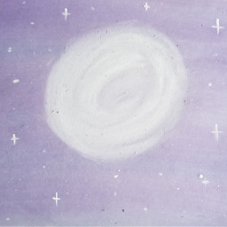 art paint purple blue galaxy