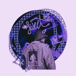 hobi hoseok purple vaporwave aesthetic