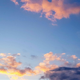 freetoedit sunset sky clouds evening