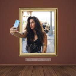 prettywoman frame selfie threedimensional 3d ftestickers freetoedit