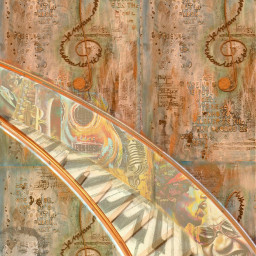 freetoedit @asweetsmile1 music raycharles jimmiehendrix saxophone microphone piano stairs lyrics asmile creative madewithpicsart bright colorful beautiful africanart art happines smile relax background irccitrussteps citrussteps
