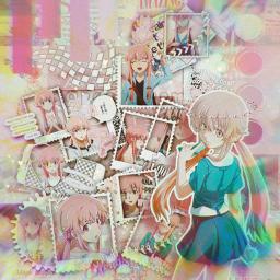 freetoedit anime manga otaku japan mirainikki futurediary yunogasai yuno gasai yuki
