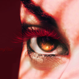 red color passionate love seduction eyecloseup eye freetoedit