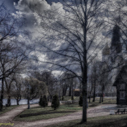 emotions hdr nature photography travel spring colorful tree trees chapel church landscape lake ig_russia travelphotography sky cloudscape reflexion sky_captures relax love freetoedit