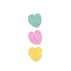 freetoedit heart pastel hearts aesthetic soft softcore softaesthetic doodle drawing vector cute red messy kidcore cottagecore y2k