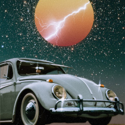 freetoedit car stars collage lightning