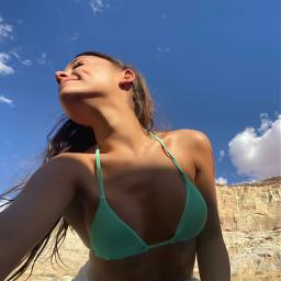 arianagrande bathingsuit green mintgreen