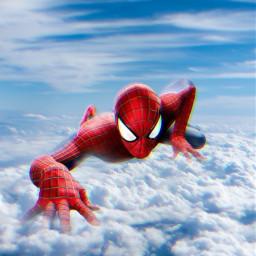 freetoedit spiderman madewithpicsart mrlb2000 marvel sky lol awesome