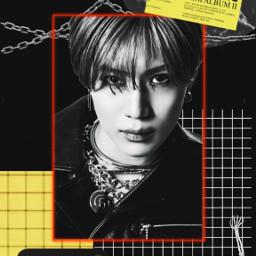 taemin leetaemin kpop kpopedit red yellow dark aesthetic freetoedit