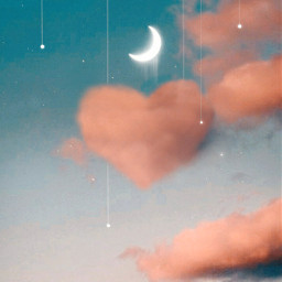 freetoedit myedit papicks heart cloud background clonetool moon