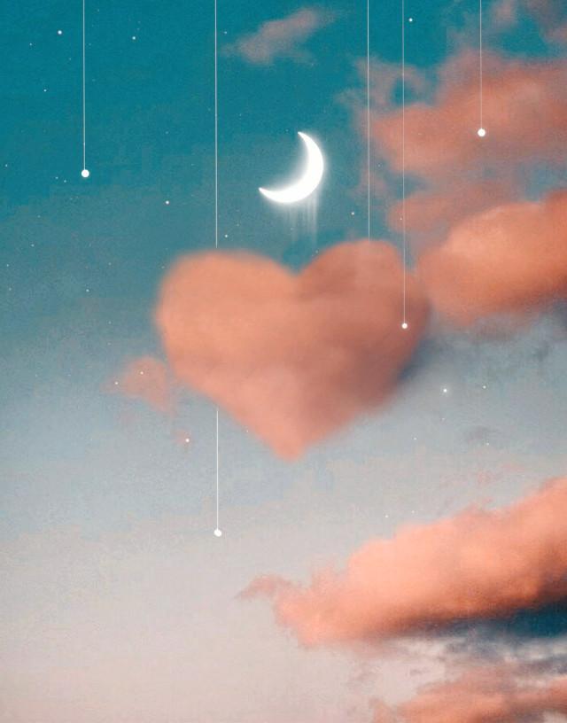 #freetoedit 💜💜💜 #myedit #papicks #heart #cloud #background #clonetool #moon