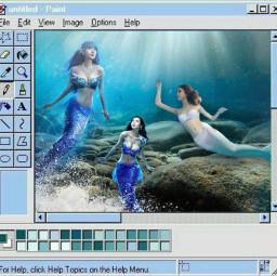 freetoedit challenge water mermaids microsoftpaint blueaesthetic ecintothewater intothewater