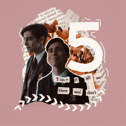 five numberfive theumbrellaacademy umbrellaacademy umbrellaacedemynetflix theumbrellaacademyedit vintageaesthetic pinkandwhite pinkaesthetic time timeaesthetic paper digitalcollage scrapbook adriangallagher collage collageart collageedit vintage freetoedit
