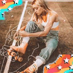 freetoedit rollerskating vintage aesthetic