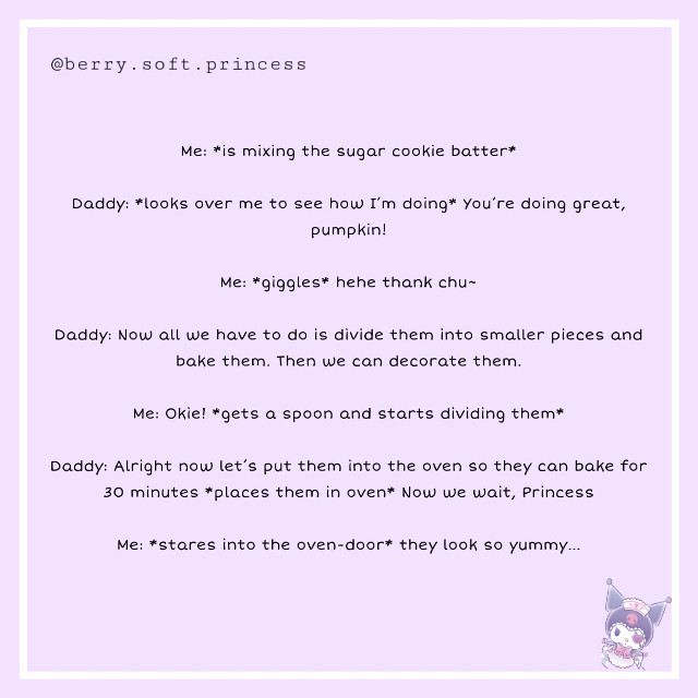 Part 1 of baking wiv daddy!!! 💫😌🍪   #littlespace #sfwlittlespace #littlespacecommunity #littlespacesfw #sfwlittle #little #cg #cglre #dxlg #mxlg #mxlb #dxlb #littleone #sfwcontent #sfwcglre #cuddlecore #princess #babycore #toddlercore #fairycore  #freetoedit