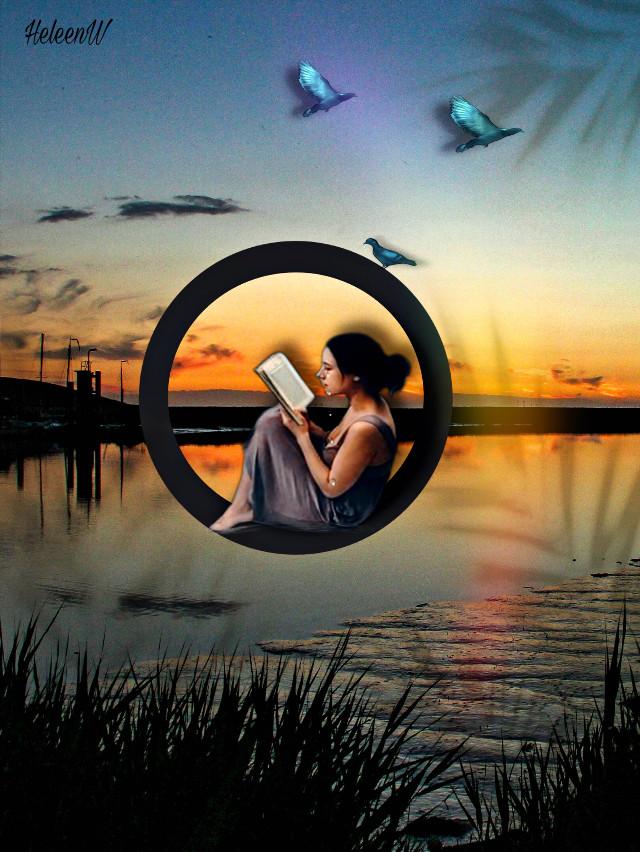 #book #bookreading #reading #shadoweffect #fantasy #vacationmood #fantasyart #goldenhour #prismeffect #shadowmask #creativity #diversity #imagination #inspiration #freetoedit