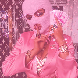 freetoedit louisvuitton louisvuttonpink pinkaesthetic y2kpink pinkmask bling lv