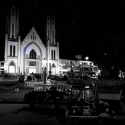 white black night black-and-white monochrome darkness monochromephotography light town architecture sky snapshot street building midnight urbanarea church photography city tree placeofworship style cathedral chapel metropolis