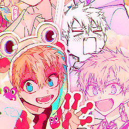 kouminamoto kominamotoedit toiletboundhanakokun jibakushounenhanakokun anime manga aesthetic pink orange wallpaper uwu