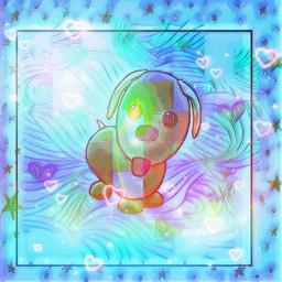 neon pattern adoptmedog hearts stars shiny spotted greenandblue background light wavebackround shadeofblue rainbowcolors neonhearts colourful freetoedit