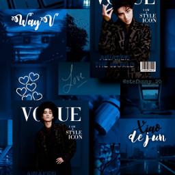 xiaojun xiaodejun xiaojunwayv wayv wayvxiaojun wayvedit wayvwallpaper nct happybirthday happyxiaojunday aesthetic blue blueaesthetic freetoedit