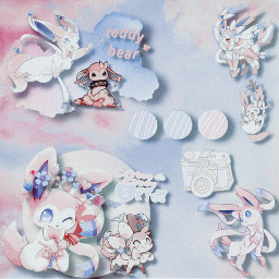 freetoedit aesthetic aestheticedit soft softaesthetic softedit pokemon sylveon sylveonpokemon pokemonedit sylveonedit pinkandblue blueandpink kawaii cute adorable light lightedit lightaesthetic uwu