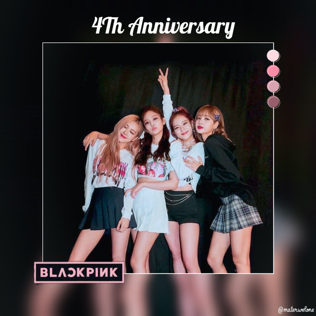 L O A D I N G...  materwelone is typing...  Hello melon seeds, today is a special day for each and every one of us, because today is the 4th anniversary of BLACKPINK! I hope you'all are having a good time celebrating for these awesome people who make this world a better place! ✨  INFO: Time it took: 17mins Song: BLACKPINK - How You Like That Name: BLACKPINK💜 Event: 4th anniversary Mood: 🥱 Personal rating: 9/10 Date 08/08/2020❤️ Follower count: 43 Follower goal: 50 Likes goal: 20  Reminder: At 50 followers I will do a giveaway✨ + I am taking watermark requests until September 1st!  AMAZING PicsArt users and many more on my tag list:🌼 @areyouanarmy (Incredible k-pop edits)🍉  @cherryfltrs (Amazing edits & filters)🍒 @batan_bts (CUTE edits)🍓 @eshyxn (COOL edits)🍎 @jenniekolik (Super aesthetic edits)🍑 @jadez_edits (Extremely pretty)🍌 @-tragickook- (Wonderful edits)🍇 @-beomgi- (Love the pastel colors)🍍 @jelliiu (New to PicsArt but a true inspiration)🍋 @fridas_avocado (wOw nO wOrDs)🍊  Tag list:🌸 @soobinsbread7  @tjingtyng @channel_jennie @j_kpop_990 @lotus_blossxm @fluffshi_edits @makayla_edits911 @freefirefly @hananmalick762 @jossie- @namjin_bts_7  Dm me:     🍉To be added     🍒If you changed your name     🍓To be removed      Don't forget to check out my collab accounts: @multifandom-mess with @areyouanarmy and @-mxrry- with @cherryfltrs      #blackpink #roseblackpink #lisablackpink #jennieblackpink #jisooblackpink #blackpinkanniversary   materwelone is offline...      #freetoedit