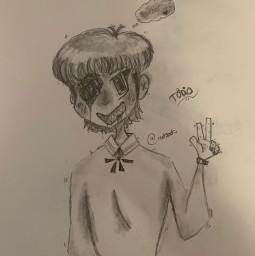freetoedit murder drawing oc originalcharacter art doodle pencilart mullet yeet