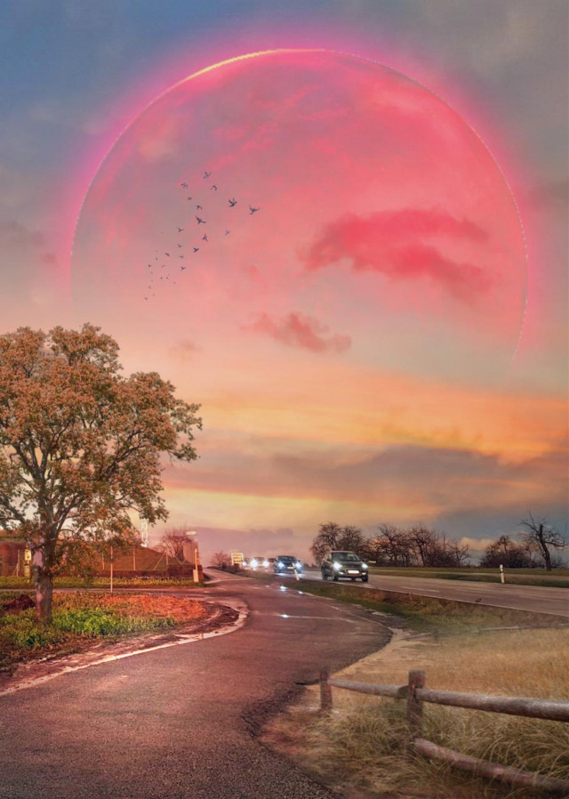 #freetoedit #myedit #madewithpicsart #surreal #fantasy #road #car #cars #sky  #clouds #planet #earth #grass #birds #tree  Op@onlyamoment