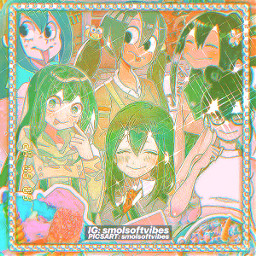 tsuyuasui myheroacademia bokunoheroacademia mha bnha anime manga edit aesthetic green uwu