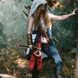 art assissan_creed_odyssey digitalart honor people cosplay